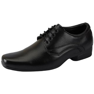 Vitoria Black Lace-up Smart Formals Shoes For Men