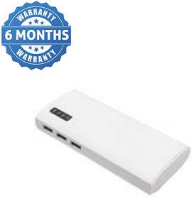 HBNS Percentage Indicator 3 USB Port 10400 mAh Power Bank(White Lithium-ion)