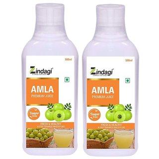 Zindagi Pure Amla Juice - Sugarfree Health Drink - Natural Vitamins  Minerals (1000ml)