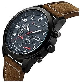 Curren Leather Strap Military Watch