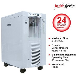 Healthgenie Oxygen Concentrator HG 502 - Oxygen Outflow 5 Litres/Minute