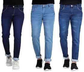Ragzo Men Multicolor Slim Fit Jeans (Pack of 3)