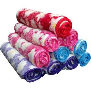 Angel Homes Set Of 4 Multicolor Cotton Face Towel (sk1)