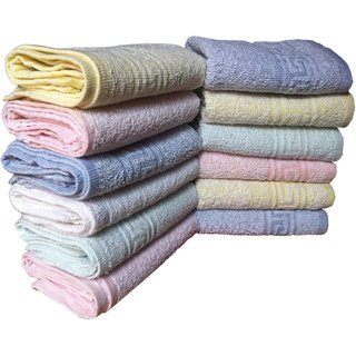Pack Of 6 Angel homes Cotton Abstract face towel