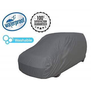 HMS Water Proof Car body cover With Mirror Pockets All weather for Tata Neno - Color Grey