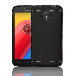 Motorola Moto C Plus Silicone Soft Back Cover With 360 Degree Protection (Black)