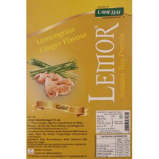 Lemor Gold Lemongrass Ginger Flavour Instant Tea Premix 1 kg Premix Tea for Vending Machine Ready to drink tea