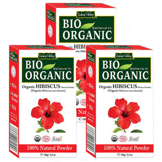 Indus Valley Organic Hibiscus Powder - Triple Pack