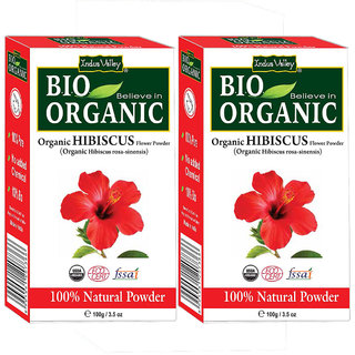 Indus Valley Organic Hibiscus Powder - Twin Pack