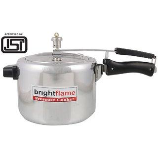brightflame Pressure Cooker Stainless Steel 5 Ltr inner Lid