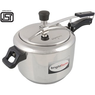 brightflame Popular Pressure Cooker 5 Ltr  inner Lid