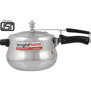 brightflame Popular Pressure Cooker 3 Ltr Handi inner Lid - Induction Base