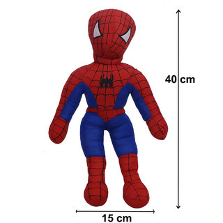 Arushi Unisex Stuffed Soft Spiderman Figure Toy for Kids Multi-Colour