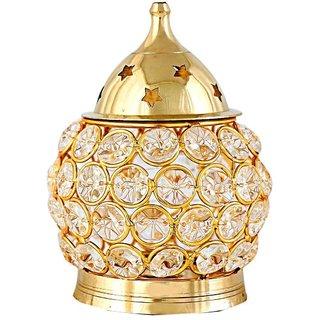 KESAR ZEMS Brass Golden diamond  Akhand Diya Big