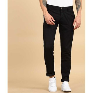 culture black slim fit casual  Trousers For Men