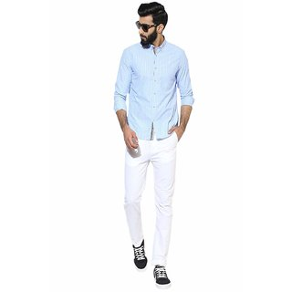 culture white slim  Fit  casual  Trousers For Men