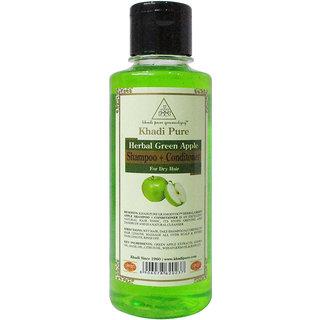 Khadi Pure Herbal Green Apple Shampoo + Conditioner - 210ml