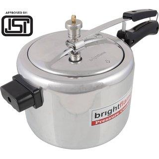 brightflame Pressure Cooker Aluminium 8 Ltr inner Lid