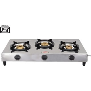 brightflame Surya Triad 3 Burner Stainless Steel Gas Stove