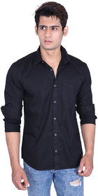 roller fashions Black Casual Slim Fit Shirt