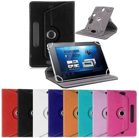 Universal 360 Degree Rotation Smart Cover Carry Case for 7 inch Tablet with Camera Holes.