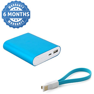 Hobins Metal Fast Charging 10400 Mah Power Bank  Blue    6 Months Warranty