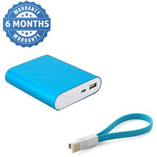 Hobins Metal Fast Charging 10400 Mah Power Bank  Blue
