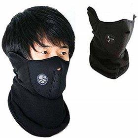 Neoprene Balaclava Face Mask Ski Mask Dust Mask anti pollution mask bike mask (Black) set of 1