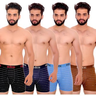 ZOTIC Men Trunk'H' Underwear-Pack Of 4 Black,Blue,Gold,Navy