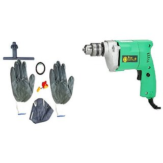 DIVS  10mm Drill With Safty Product Kit as Gloves + Tape+ Mask+Ear Plug