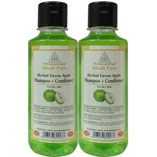 KHADI PURE GREEN APPLE CONDITIONER+SHAMPOO   GRAMODYOG 2 SHAMPOO