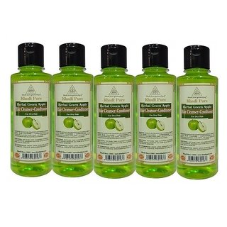 KHADI PURE GREEN APPLE CONDITIONER+SHAMPOO   GRAMODYOG 5 SHAMPOO