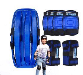 Wintex Branded Blue Protection Kit With Head Gear for Skating/Cycling/Dancing Etc Size Large