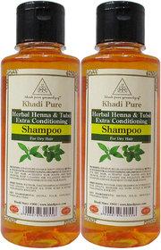 KHADI PURE HERBAL HEENA TULSI WITH EXTRA CONDITIONING SHAMPOO 2 SHAMPOO