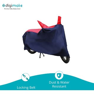 Digimate Dustproof Bike Body Cover Upto 150 CC Red and Blue