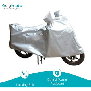 Digimate Universal Dustproof body cover for bike and scooties Colour Silver