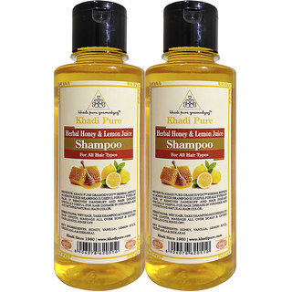 KHADI PURE HERBAL HONEY  LEMON JUICE SHAMPOO 2 SHAMPOO