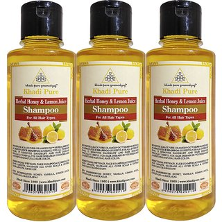 KHADI PURE HERBAL HONEY  LEMON JUICE SHAMPOO 3 SHAMPOO