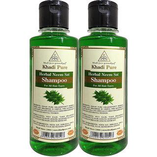 KHADI PURE HERBAL NEEM SAT SHAMPOO GRAMODYOG  2 Shampoo