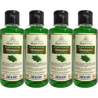 KHADI PURE HERBAL NEEM SAT SHAMPOO GRAMODYOG  4 Shampoo