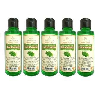 KHADI PURE HERBAL NEEM SAT SHAMPOO GRAMODYOG  5 Shampoo