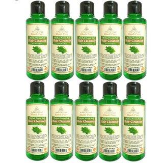 KHADI PURE HERBAL NEEM SAT SHAMPOO GRAMODYOG  10 Shampoo