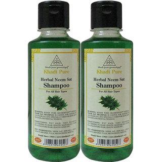 KHADI HERBAL NEEM SAT SHAMPOO GRAMODYOG  2 Shampoo