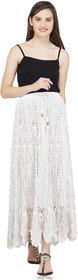 Handmade Crochet Skirt White