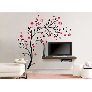 Pack Of 1 Eja Art Magical Tree Vinyl Multicolor Wall Sticker