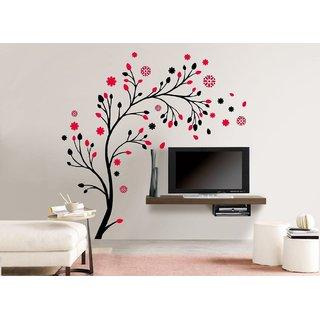 Pack Of 1 Eja Art Magical Tree Vinyl Multicolor Wall Sticker