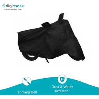 Digimate Bike body cover for bike and scooties- Colour Black