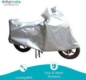 Digimate Bike body cover for bike and scooties- Colour Silver