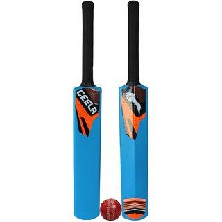 Ceela Sports Plastic Cricket Bat size-6 and Wind Ball