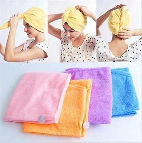 Kudos Enterprise Set Of 3 Cotton Hair Wrap Fast Drying Dryer Towel Bath Wrap Twist Quick Dry Head